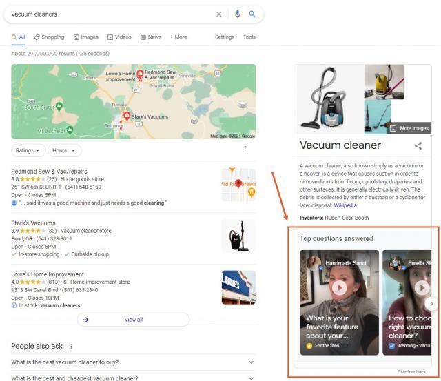 Google Search Cameos用于产品搜索